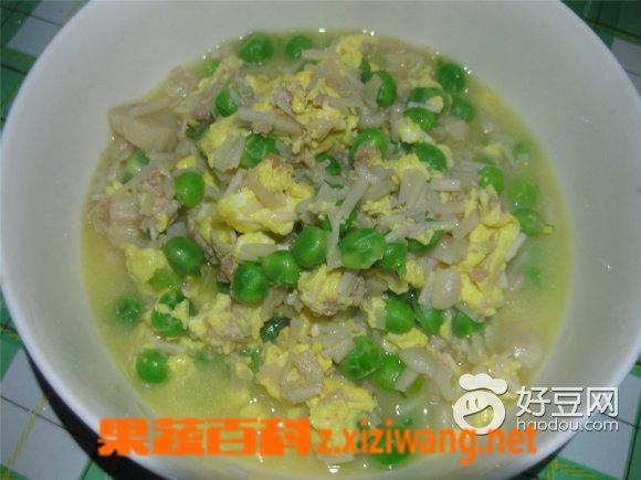 果蔬百科金针菇豌豆汤